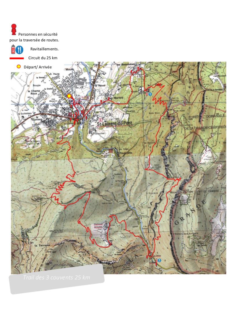 Parcours trail des 3 couvents 25 km